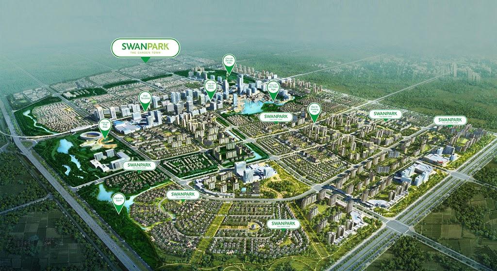 Quy mô khu đô thị Swan Park City Nhơn Trạch Đông Sài Gòn